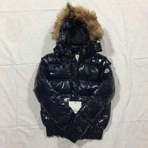 Women's Moncler Blue Coat Jacket
